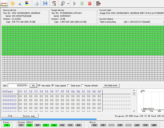 zrzut ekranu z profesjonalnego programu do odzyskiwania danych podczas działania