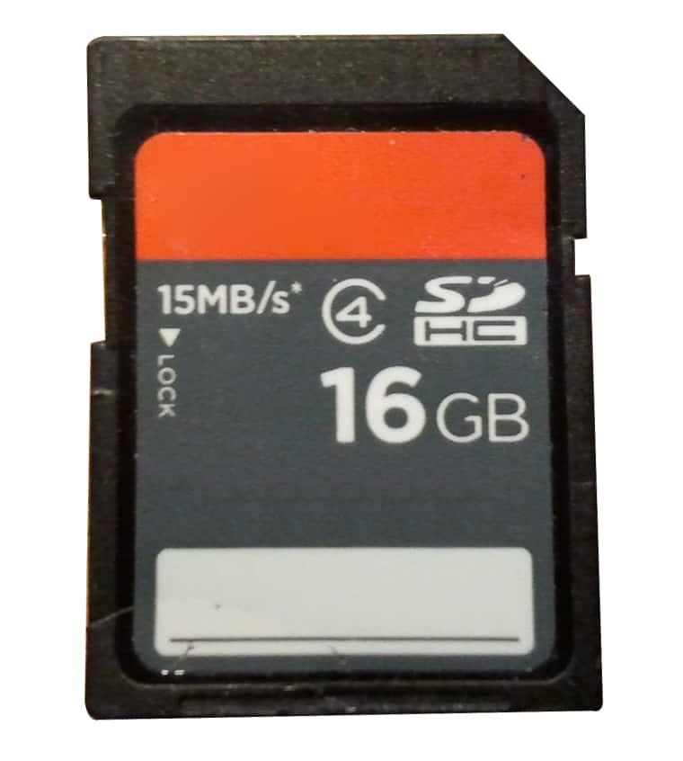 zdjęcie karty pamięci typu flash 16GB