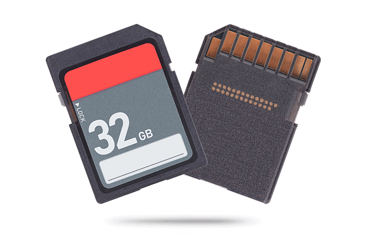 dwie czarne karty SD 32GB